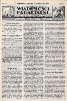 """Wiadomości Parafjalne : dodatek do tygodników """"Niedziela"""" i""""Przewodnika Katolickiego"""". 1935, nr32"""