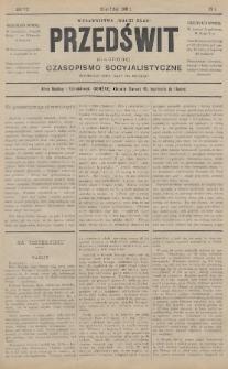 """Przedświt = L'Aurore : czasopismo socyjalistyczne : wydawnictwo """"Walki Klas"""". R. 7, 1888, nr4"""