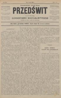 """Przedświt = L'Aurore : czasopismo socyjalistyczne : wydawnictwo """"Walki Klas"""". R. 7, 1888, nr5-6"""