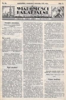 """Wiadomości Parafjalne : dodatek do tygodników """"Niedziela"""" i""""Przewodnika Katolickiego"""". 1935, nr35"""
