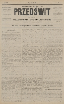"""Przedświt = L'Aurore : czasopismo socyjalistyczne : wydawnictwo """"Walki Klas"""". R. 8, 1889, nr2"""