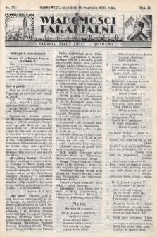 """Wiadomości Parafjalne : dodatek do tygodników """"Niedziela"""" i""""Przewodnika Katolickiego"""". 1935, nr37"""