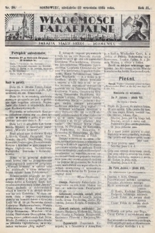 """Wiadomości Parafjalne : dodatek do tygodników """"Niedziela"""" i""""Przewodnika Katolickiego"""". 1935, nr38"""