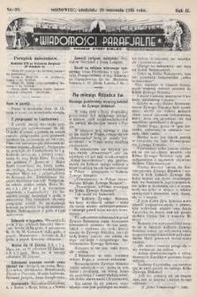 """Wiadomości Parafjalne : dodatek do tygodników """"Niedziela"""" i""""Przewodnika Katolickiego"""". 1935, nr39"""