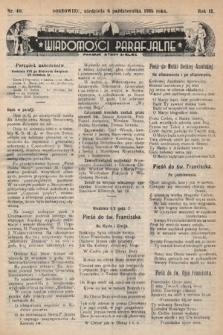 """Wiadomości Parafjalne : dodatek do tygodników """"Niedziela"""" i""""Przewodnika Katolickiego"""". 1935, nr40"""