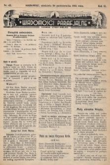 """Wiadomości Parafjalne : dodatek do tygodników """"Niedziela"""" i""""Przewodnika Katolickiego"""". 1935, nr42"""