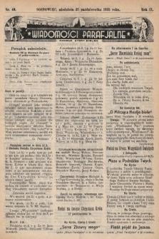 """Wiadomości Parafjalne : dodatek do tygodników """"Niedziela"""" i""""Przewodnika Katolickiego"""". 1935, nr43"""