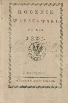 Rocznik Warszawski na Rok 1823
