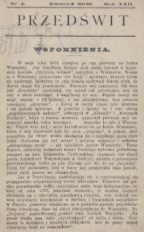 Przedświt : miesięcznik polityczno-społeczny : organ Polskiej Partyi Socyalistycznej. R. 22, 1902, nr4