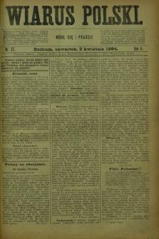 Wiarus Polski. R.4, nr 37 (5 kwietnia 1894)