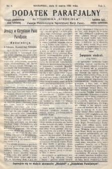 """Dodatek Parafjalny do tygodnika """"Niedziela"""" Parafji Wniebowzięcia Najświętszej Marji Panny. 1934, nr6"""