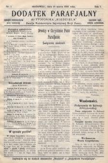 """Dodatek Parafjalny do tygodnika """"Niedziela"""" Parafji Wniebowzięcia Najświętszej Marji Panny. 1934, nr7"""