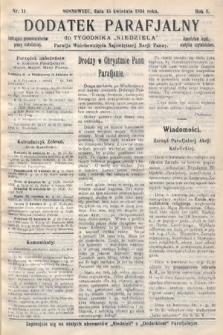 """Dodatek Parafjalny do tygodnika """"Niedziela"""" Parafji Wniebowzięcia Najświętszej Marji Panny. 1934, nr11"""