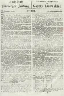 Amtsblatt zur Lemberger Zeitung = Dziennik Urzędowy do Gazety Lwowskiej. 1860, nr261