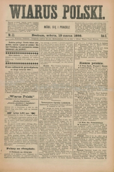 Wiarus Polski. R.8, nr 33 (19 marca 1898) + dod.