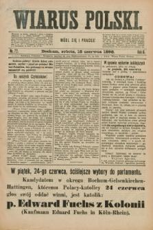 Wiarus Polski. R.8, nr 72 (18 czerwca 1898) + dod.