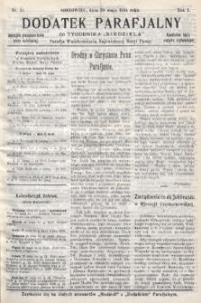 """Dodatek Parafjalny do tygodnika """"Niedziela"""" Parafji Wniebowzięcia Najświętszej Marji Panny. 1934, nr16"""