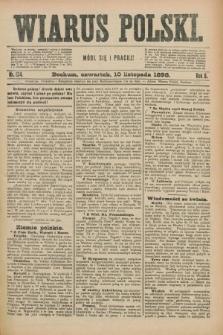 Wiarus Polski. R.8, nr 134 (10 listopada 1898) + dod.