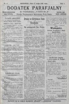 """Dodatek Parafjalny do tygodnika """"Niedziela"""" Parafji Wniebowzięcia Najświętszej Marji Panny. 1934, nr17"""