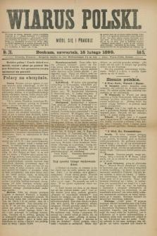 Wiarus Polski. R.9, nr 20 (16 lutego 1899)