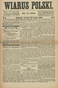 Wiarus Polski. R.9, nr 25 (28 lutego 1899)