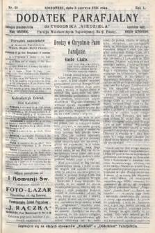 """Dodatek Parafjalny do tygodnika """"Niedziela"""" Parafji Wniebowzięcia Najświętszej Marji Panny. 1934, nr18"""