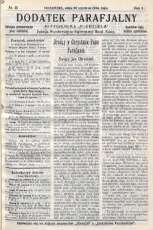 """Dodatek Parafjalny do tygodnika """"Niedziela"""" Parafji Wniebowzięcia Najświętszej Marji Panny. 1934, nr21"""