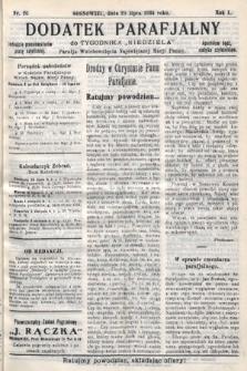 """Dodatek Parafjalny do tygodnika """"Niedziela"""" Parafji Wniebowzięcia Najświętszej Marji Panny. 1934, nr26"""