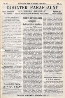 """Dodatek Parafjalny do tygodnika """"Niedziela"""" Parafji Wniebowzięcia Najświętszej Marji Panny. 1934, nr30"""
