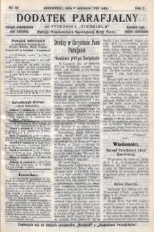 """Dodatek Parafjalny do tygodnika """"Niedziela"""" Parafji Wniebowzięcia Najświętszej Marji Panny. 1934, nr32"""