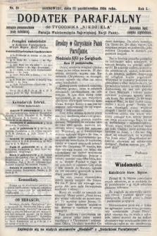 """Dodatek Parafjalny do tygodnika """"Niedziela"""" Parafji Wniebowzięcia Najświętszej Marji Panny. 1934, nr38"""