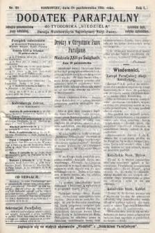 """Dodatek Parafjalny do tygodnika """"Niedziela"""" Parafji Wniebowzięcia Najświętszej Marji Panny. 1934, nr39"""
