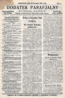 """Dodatek Parafjalny do tygodnika """"Niedziela"""" Parafji Wniebowzięcia Najświętszej Marji Panny. 1934, nr42"""