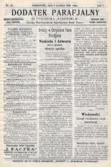 """Dodatek Parafjalny do tygodnika """"Niedziela"""" Parafji Wniebowzięcia Najświętszej Marji Panny. 1934, nr44"""