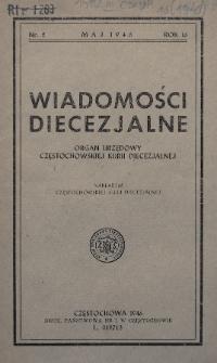 Wiadomości Diecezjalne : organ urzędowy Częstochowskiej Kurii Diecezjalnej. 1946, nr2