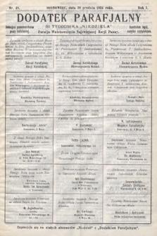 """Dodatek Parafjalny do tygodnika """"Niedziela"""" Parafji Wniebowzięcia Najświętszej Marji Panny. 1934, nr48"""