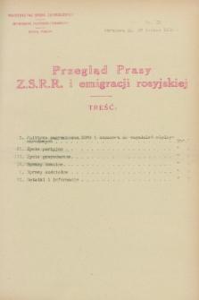 Przegląd Prasy Z.S.R.R. i emigracji rosyjskiej. 1928, nr 62 (29 lutego)