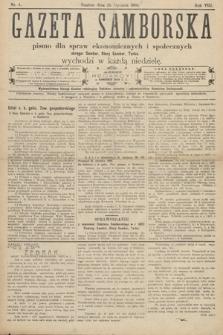 Gazeta Samborska : pismo poświęcone sprawom ekonomicznym i społecznym okręgu: Sambor, Stary Sambor, Turka. 1908, nr4
