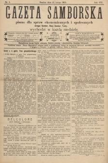 Gazeta Samborska : pismo poświęcone sprawom ekonomicznym i społecznym okręgu: Sambor, Stary Sambor, Turka. 1908, nr8