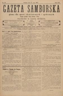 Gazeta Samborska : pismo poświęcone sprawom ekonomicznym i społecznym okręgu: Sambor, Stary Sambor, Turka. 1908, nr22