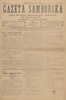 Gazeta Samborska : pismo poświęcone sprawom ekonomicznym i społecznym okręgu: Sambor, Stary Sambor, Turka. 1908, nr24