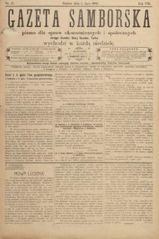 Gazeta Samborska : pismo poświęcone sprawom ekonomicznym i społecznym okręgu: Sambor, Stary Sambor, Turka. 1908, nr27