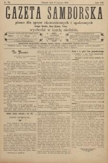 Gazeta Samborska : pismo poświęcone sprawom ekonomicznym i społecznym okręgu: Sambor, Stary Sambor, Turka. 1908, nr32
