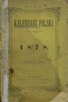 Kalendarz Polski (z Powieściami) na rok 1878