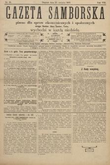 Gazeta Samborska : pismo poświęcone sprawom ekonomicznym i społecznym okręgu: Sambor, Stary Sambor, Turka. 1908, nr35