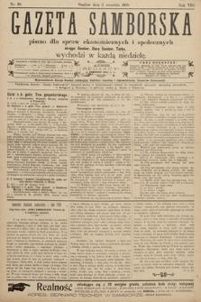 Gazeta Samborska : pismo poświęcone sprawom ekonomicznym i społecznym okręgu: Sambor, Stary Sambor, Turka. 1908, nr36