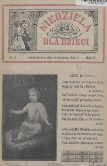 Niedziela dla Dzieci. 1935, nr1