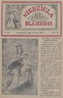 Niedziela dla Dzieci. 1935, nr14