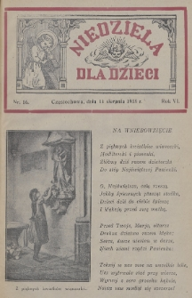 Niedziela dla Dzieci. 1935, nr16