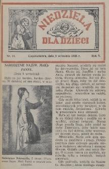 Niedziela dla Dzieci. 1935, nr18